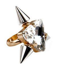 Noir Jewelry | Metallic Triple Spike Highlight Ring | Lyst