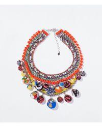 Zara | Orange Chain And Beads Necklace | Lyst