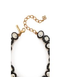 Oscar de la Renta - Black Bold Paved Resin Necklace - Lyst