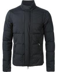 Emporio Armani - Black Padded Zipped Jacket for Men - Lyst