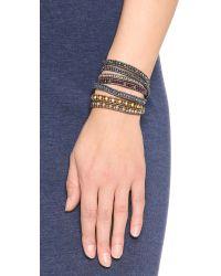 Chan Luu | Metallic Beaded Wrap Bracelet - Garnet Mix/gunmetal | Lyst