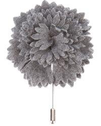 Lanvin | Gray Floral Boutonniere for Men | Lyst