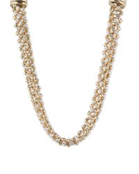 Anne Klein | Metallic Sparkle Necklace | Lyst