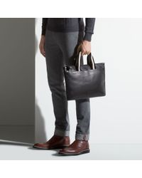 Bally - Tigan Men ́s Leather Business Bag In Black for Men - Lyst