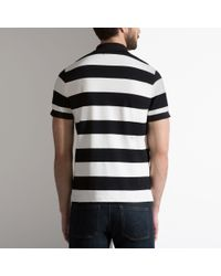 Bally - Multicolor Striped B Patch Polo Shirt In Black Cotton Jersey for Men - Lyst