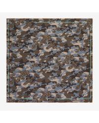 Bally - Gray Camo Print Scarf for Men - Lyst