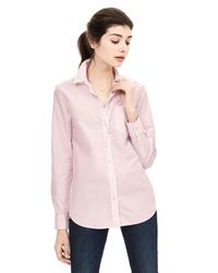 Banana Republic | Pink Dillon-fit Basic Shirt | Lyst