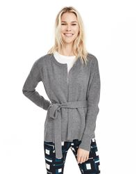 Banana Republic | Gray Todd & Duncan Belted Cashmere Open Cardigan | Lyst