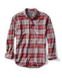 Banana Republic   Red Camden-fit Luxe Flannel Tartan Shirt for Men   Lyst