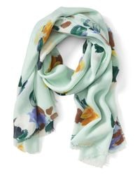 Banana Republic   Green Painterly Floral Scarf   Lyst