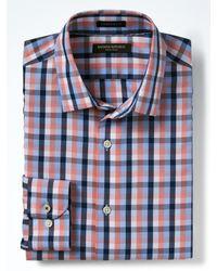 Banana Republic | Blue Camden-fit Non-iron Micro Gingham Shirt for Men | Lyst