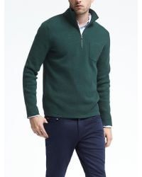 Banana Republic | Green Half-zip Pullover With Coolmax® Technology for Men | Lyst