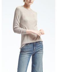 Banana Republic | Gray Silk Cashmere Seamless Pullover | Lyst