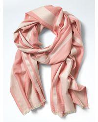 Banana Republic | Pink Shine Stripe Scarf | Lyst