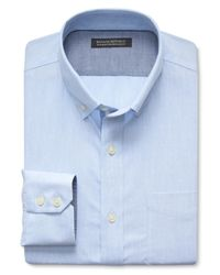 Banana Republic | Blue Tailored Slim-fit Non-iron Diamond Shirt for Men | Lyst