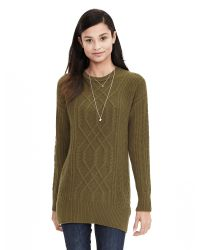 Banana Republic | Green Todd & Duncan Cable-knit Cashmere Tunic | Lyst