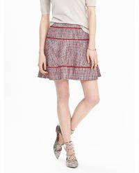 Banana Republic Multicolor Tiered Tweed Skirt