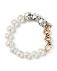 Banana Republic - Metallic Mixed Jewel And Pearl Bracelet - Lyst