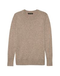 Banana Republic - Natural Italian Merino-blend Crew-neck Sweater - Lyst