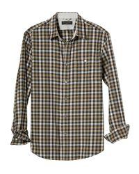 Banana Republic Factory - Standard-fit Flannel Green Gingham Shirt for Men - Lyst