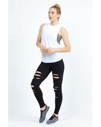 Alo Yoga   Black Ripped Warrior Legging   Lyst