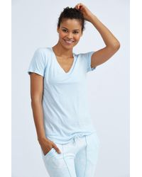 Cotton Citizen - Blue Mykonos V Neck Tee - Lyst