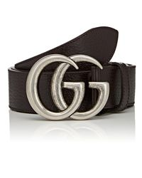 Gucci - Metallic Double G Buckle Leather Belt for Men - Lyst