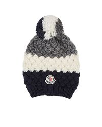 5fd9cb55b3f Moncler Striped Chunky-knit Wool in Gray - Lyst