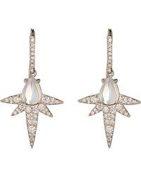 Finn - Metallic Moonstone Spike Earrings - Lyst