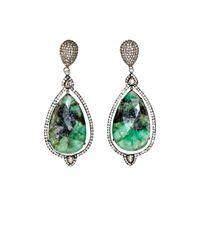 Carole Shashona Green Spectrum Goddess Earrings