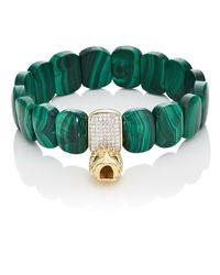 Carole Shashona - Green Golden Aphrodite Goddess Bracelet - Lyst