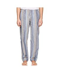 Hanro - Blue River Striped Cotton Pajama Pants for Men - Lyst