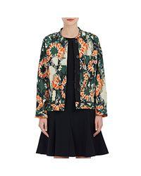 Raquel Allegra - Black Camouflage Silk Jacquard Jacket - Lyst