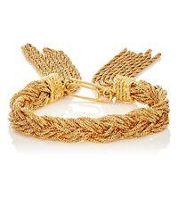 Aurelie Bidermann | Metallic 18k Yellow Gold-plated Rope Bracelet | Lyst