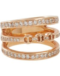 Hoorsenbuhs | Metallic Diamond & Rose Gold asset Ring | Lyst