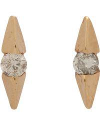 Loren Stewart | White Diamond Wing Stud Earrings | Lyst