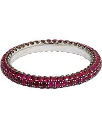 Sidney Garber | Multicolor Ruby Thread Ring | Lyst