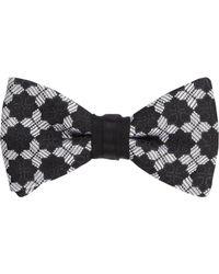 Duchamp | Black Medallion Silk Jacquard Bow Tie for Men | Lyst