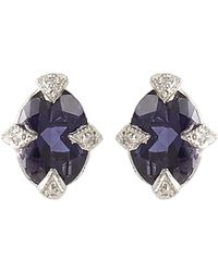 Cathy Waterman | Blue Diamond, Iolite & Platinum Studs | Lyst