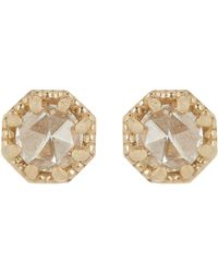 Grace Lee - Metallic Petite Crown Bezel Diamond Studs - Lyst