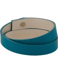 Valextra | Blue Leather Wrap Bracelet for Men | Lyst