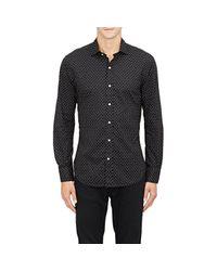 Ralph Lauren Black Label - Black Poplin Shirt for Men - Lyst
