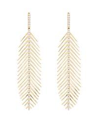 Sidney Garber | Metallic Flexible Feather Earrings | Lyst