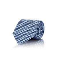 Ermenegildo Zegna - Blue Men's Geometric-pattern Jacquard Necktie for Men - Lyst