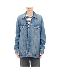 Alexander Wang | Blue Oversized Denim Jacket | Lyst