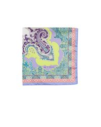Etro | Purple Paisley Pocket Square for Men | Lyst