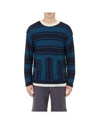 Outerknown - Black Men's Striped Sweater for Men - Lyst