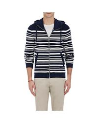 Orlebar Brown - Blue Striped Zip-front Hoodie for Men - Lyst
