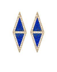 Jennifer Meyer - Blue Lapis Lazuli Kite Stud Earrings - Lyst