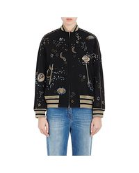 Valentino - Black astro Couture Embellished Bomber Jacket - Lyst